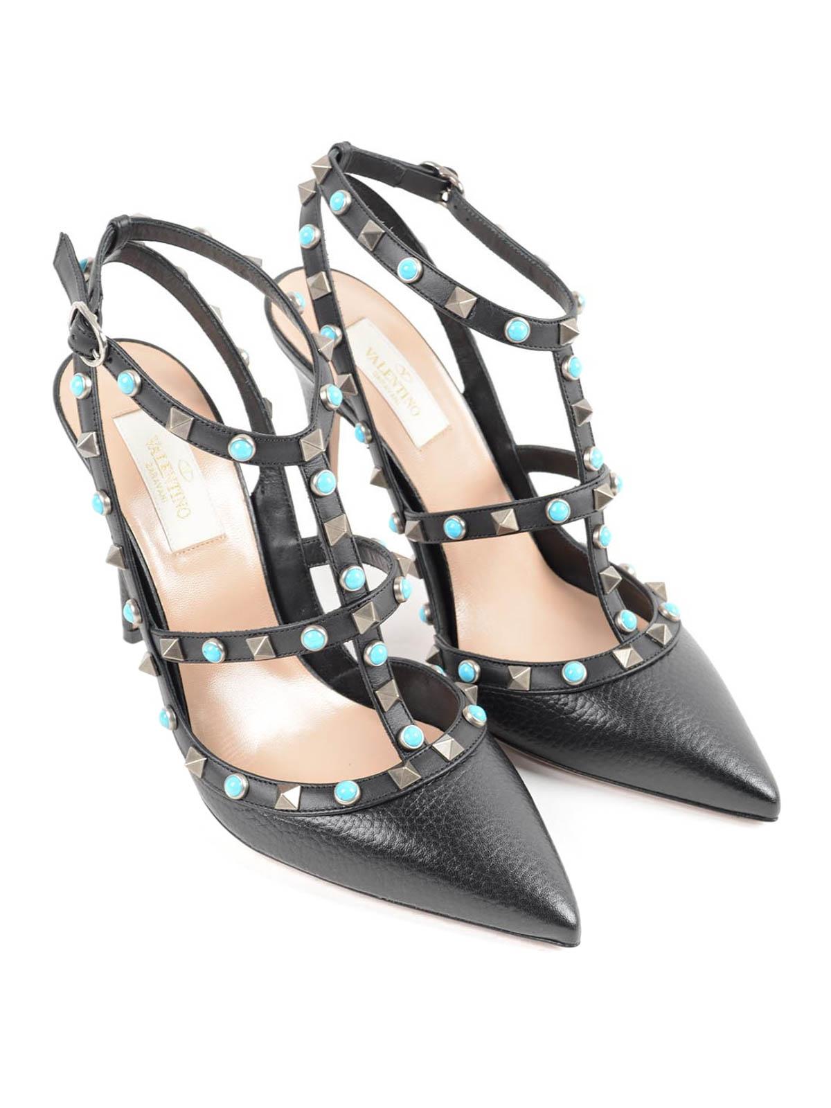 Valentino Garavani - Round Rockstud court shoes - court ...