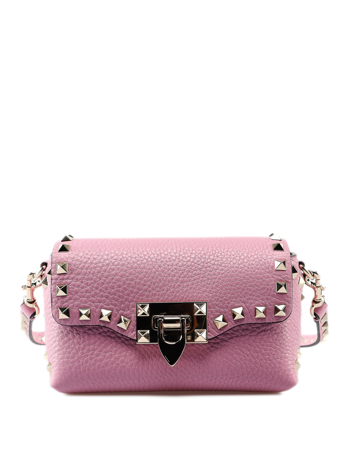 4e285075ce VALENTINO GARAVANI: cross body bags - Rockstud mini pink cross body bag