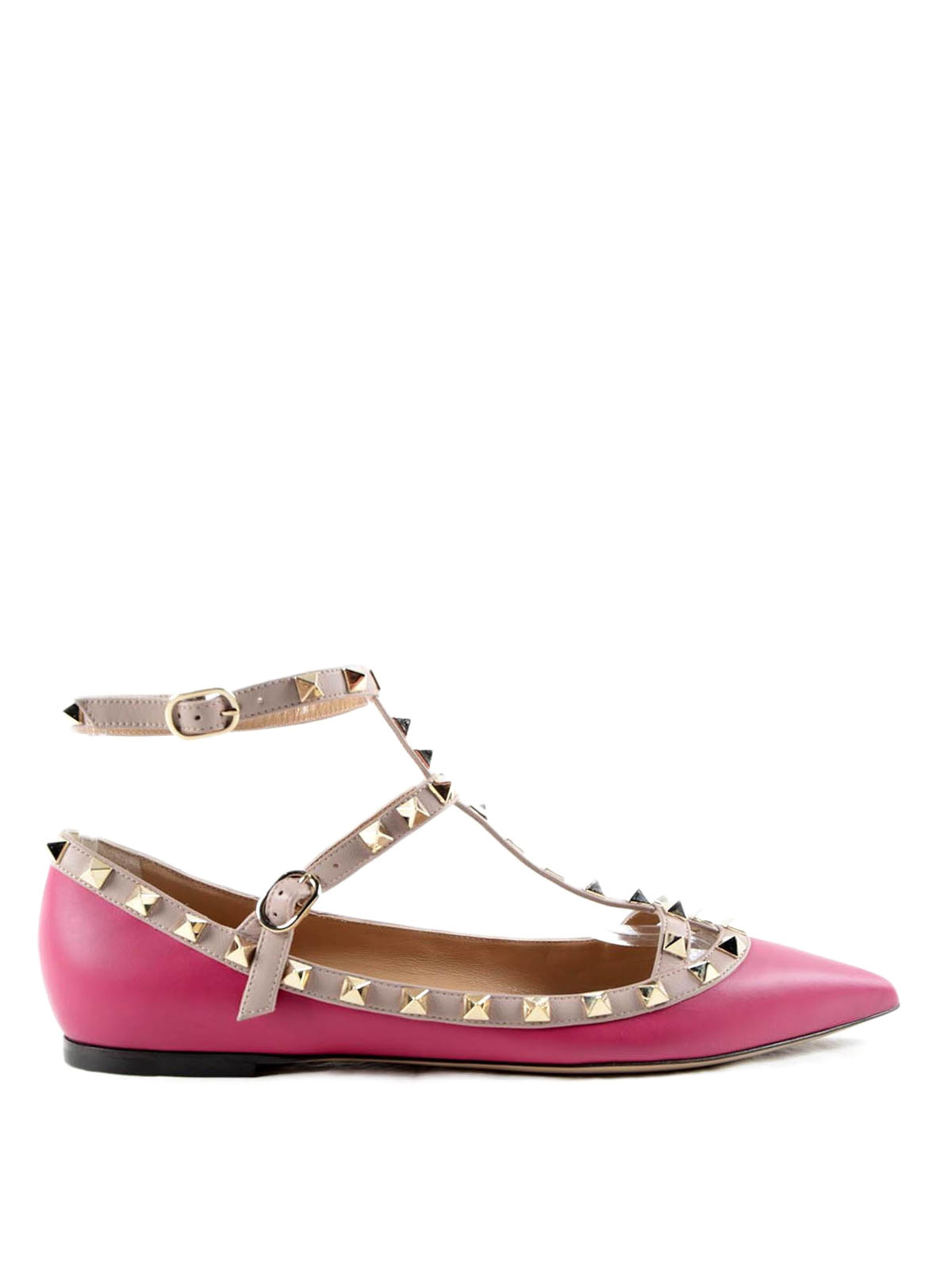 Valentino Garavani - Rockstud flat shoes - flat shoes ...