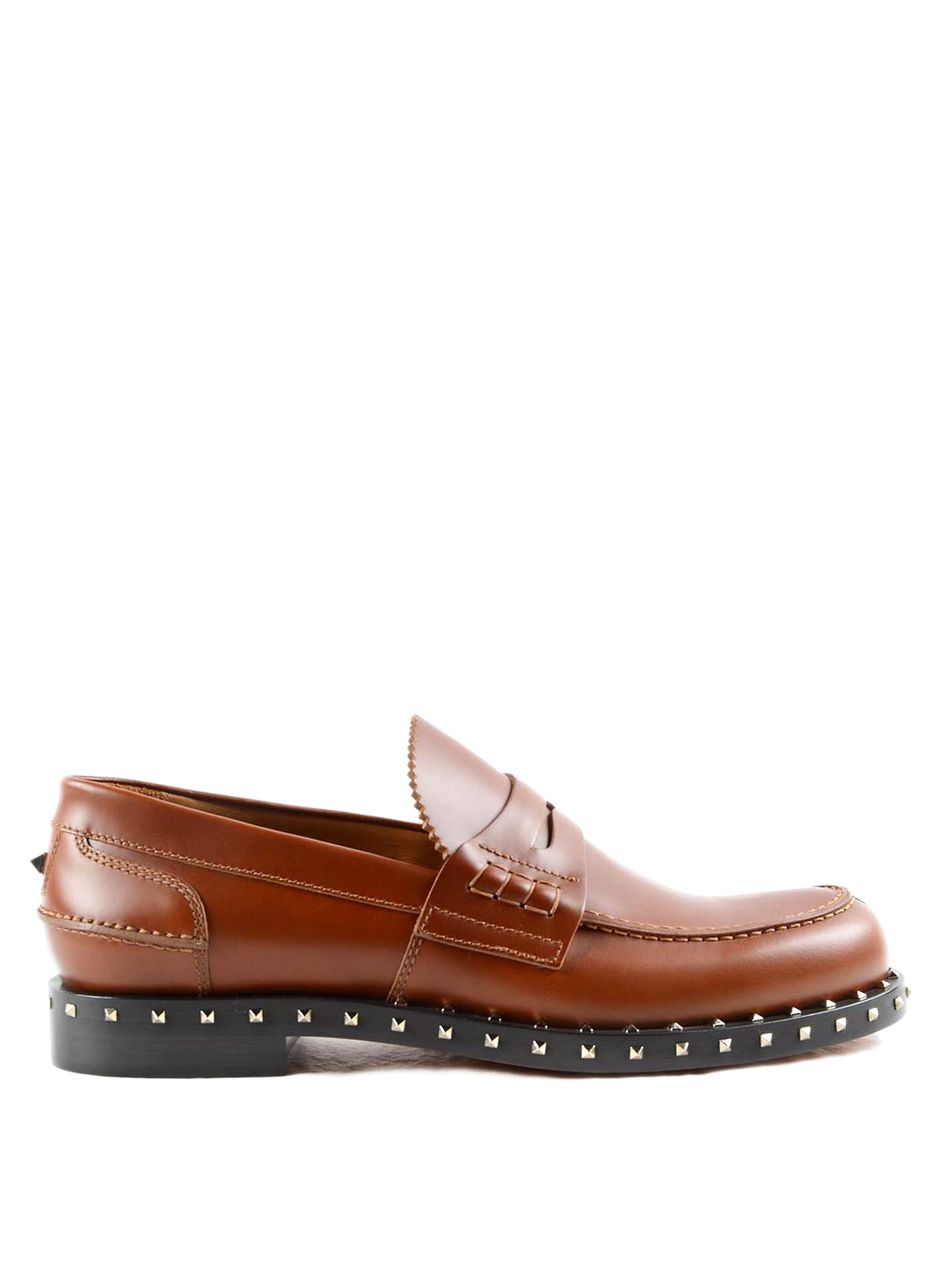 258dce4572942 Valentino Garavani - Rockstud leather loafers - Loafers & Slippers ...