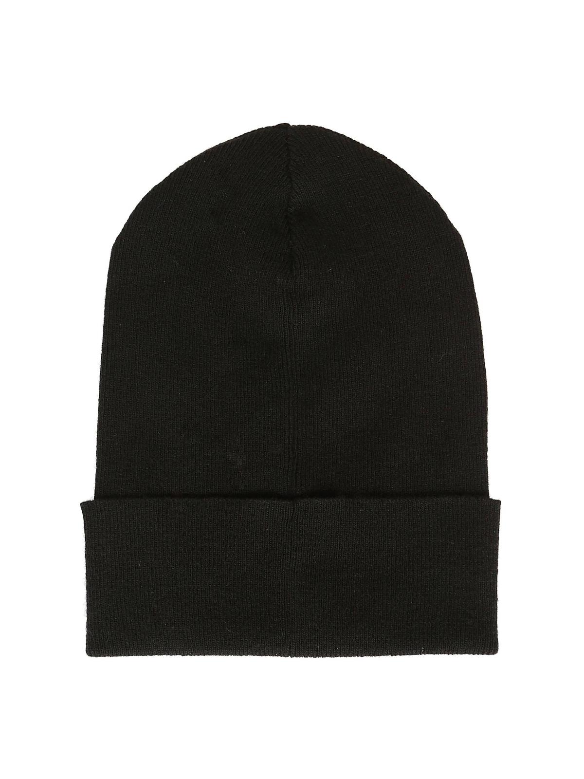 VALENTINO GARAVANI  berretti online - Berretto nero in lana con logo VLTN ca7bb6477c28