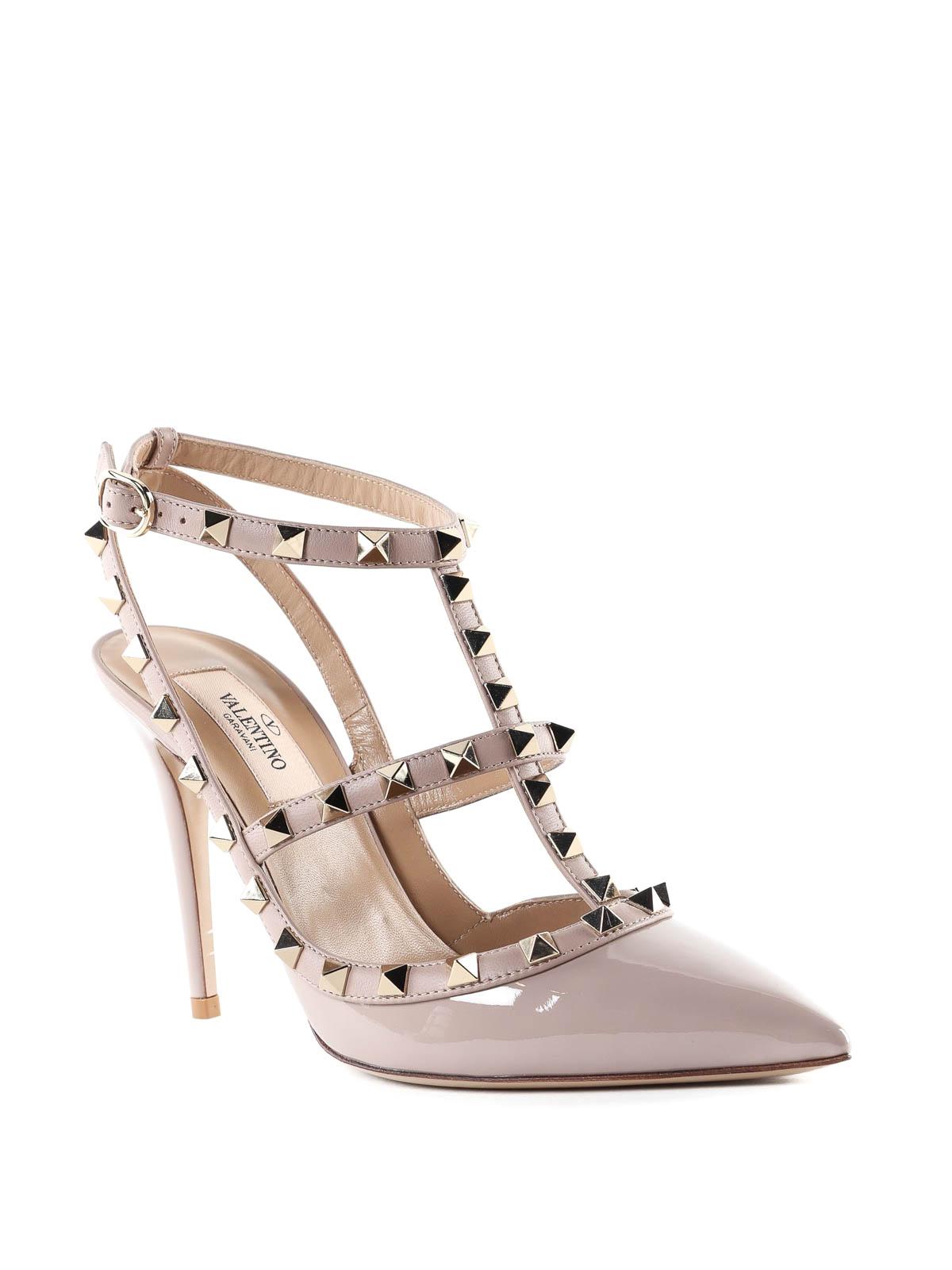 77330f35bf3 VALENTINO GARAVANI  court shoes online - Rockstud patent leather slingbacks