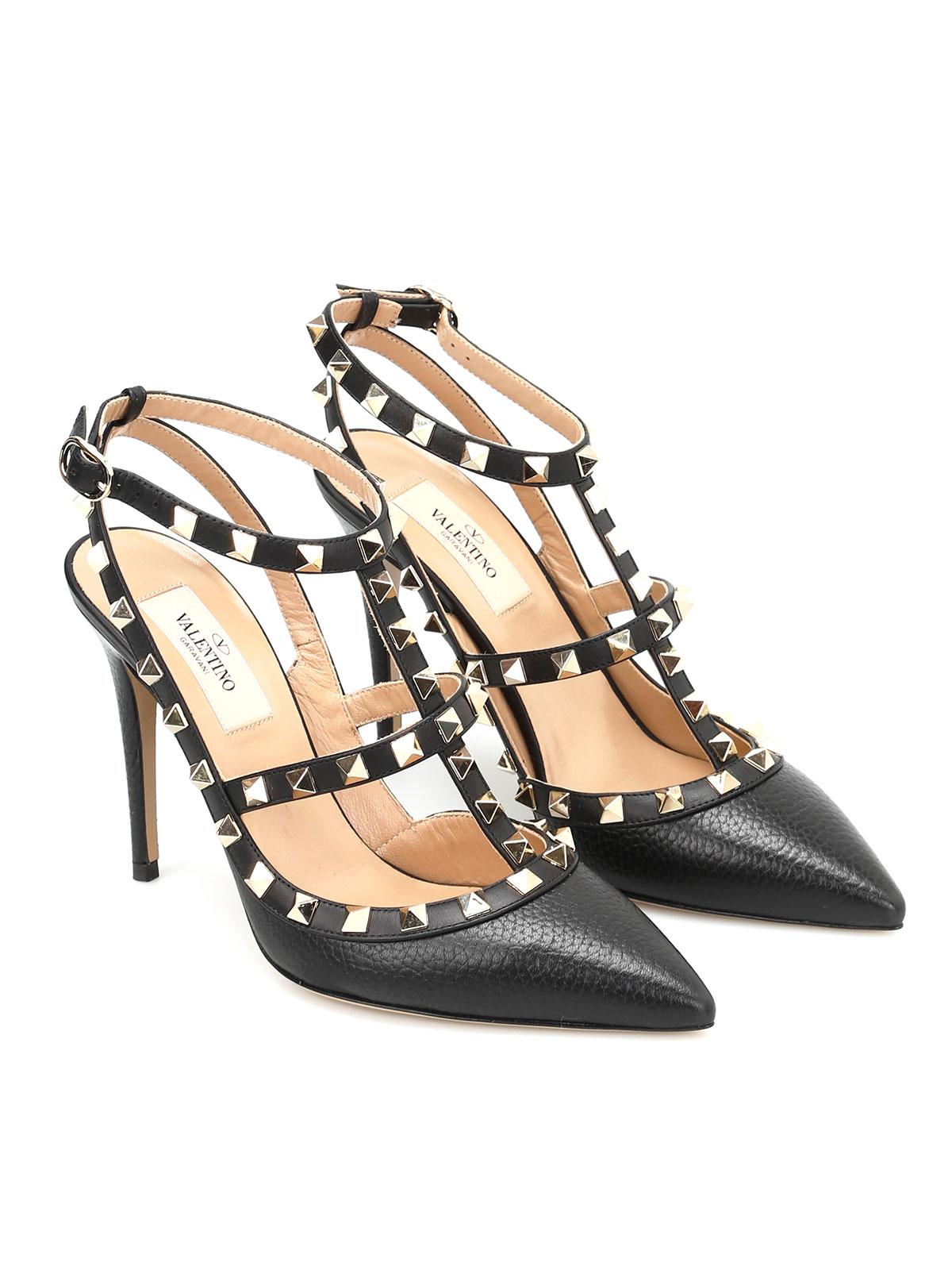 946df5e3a8d VALENTINO GARAVANI  court shoes online - Rockstud slingback leather pumps