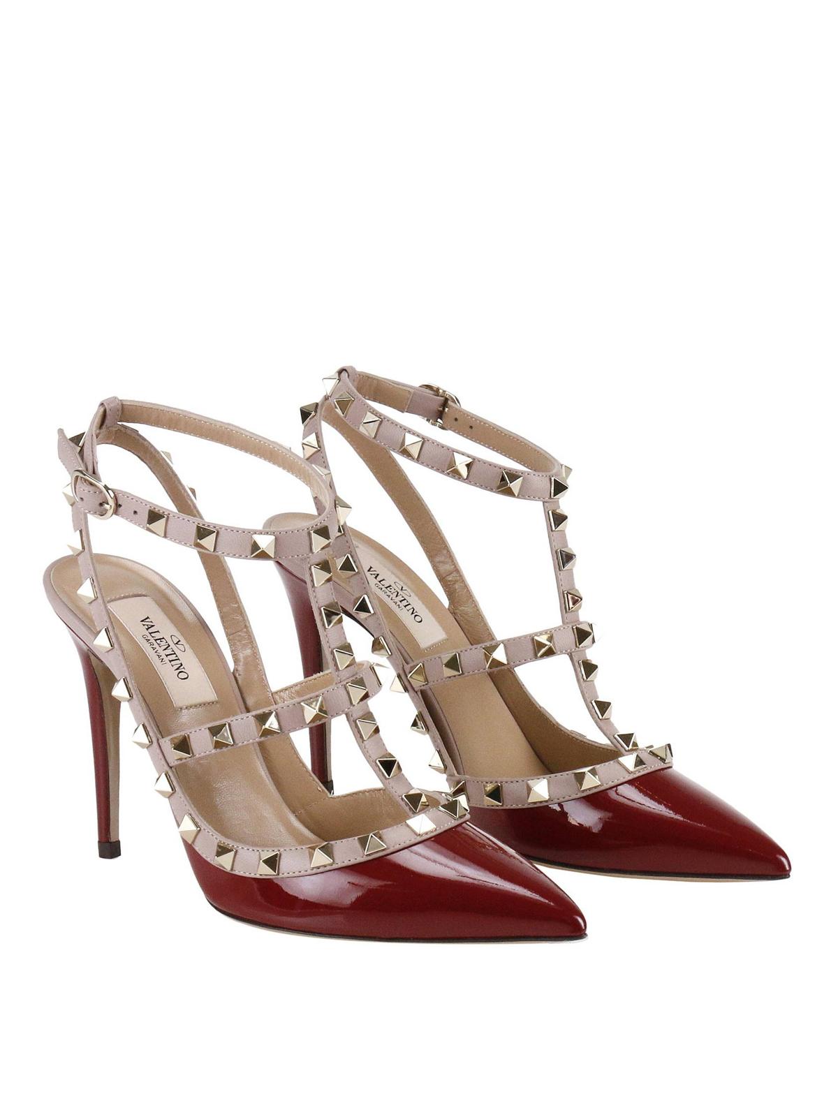 3cbafdb0f57 VALENTINO GARAVANI  court shoes online - Rockstud two-tone slingback pumps