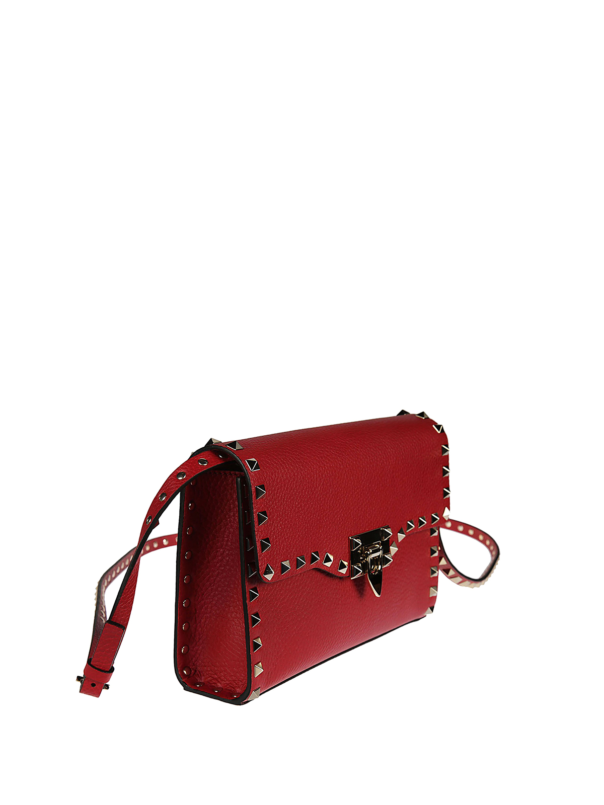 749240bed54be VALENTINO GARAVANI  cross body bags online - Rockstud medium red crossbody