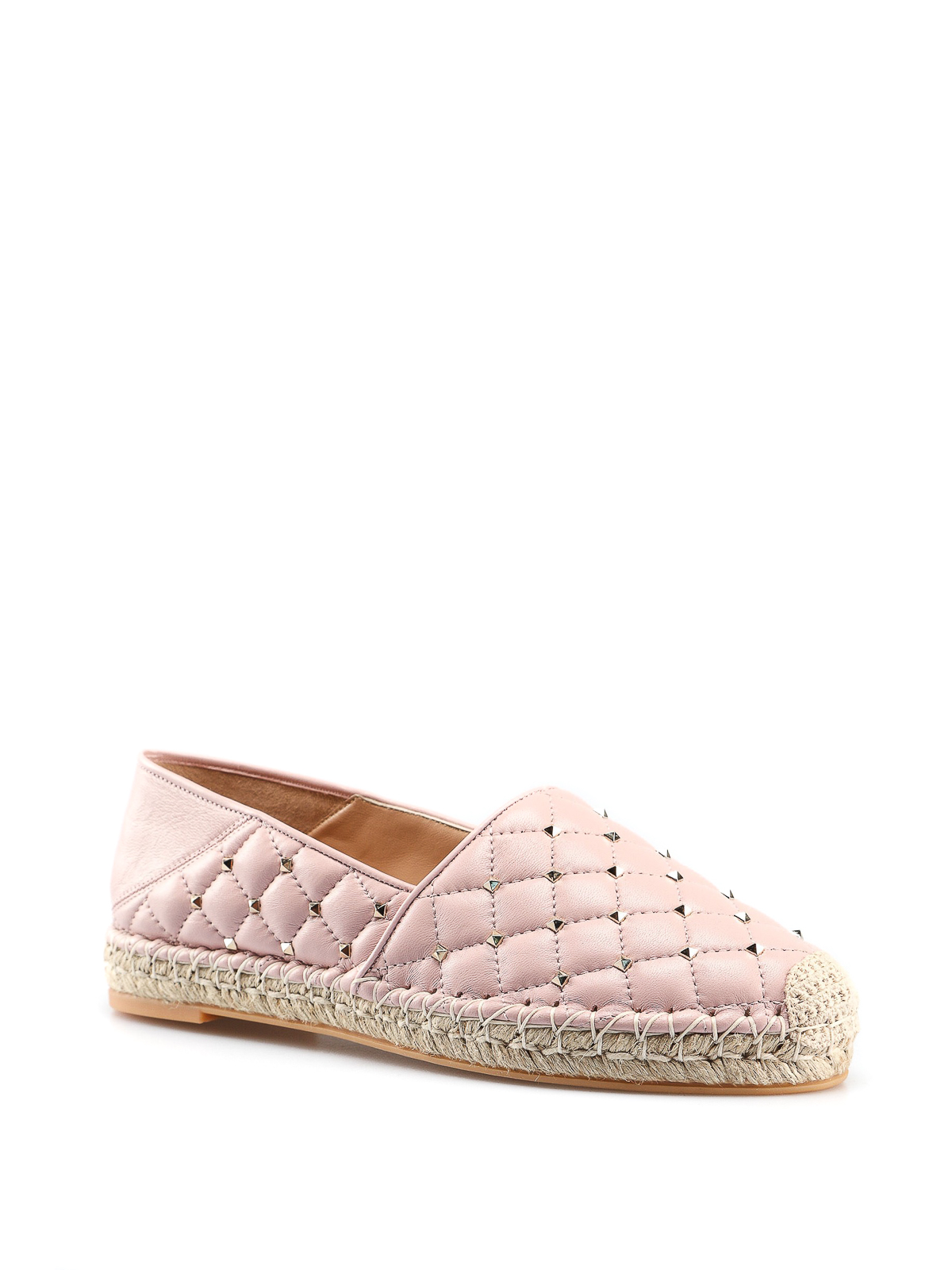 93640c04f VALENTINO GARAVANI: espadrilles online - Rockstud light pink leather  espadrilles