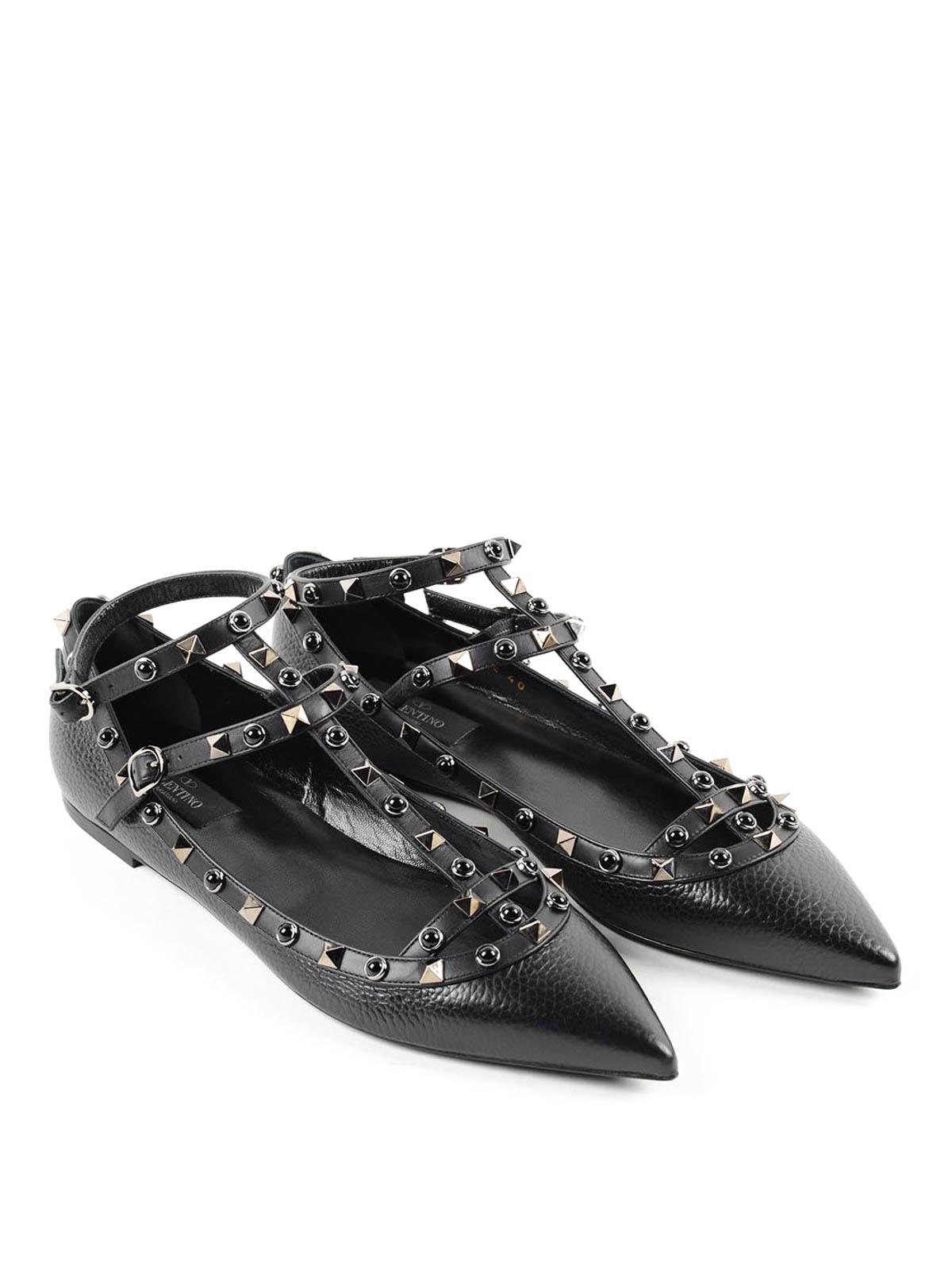 817ef4be53 Valentino Garavani - Rockstud flats - flat shoes - LW2S0376.NO3 0NO