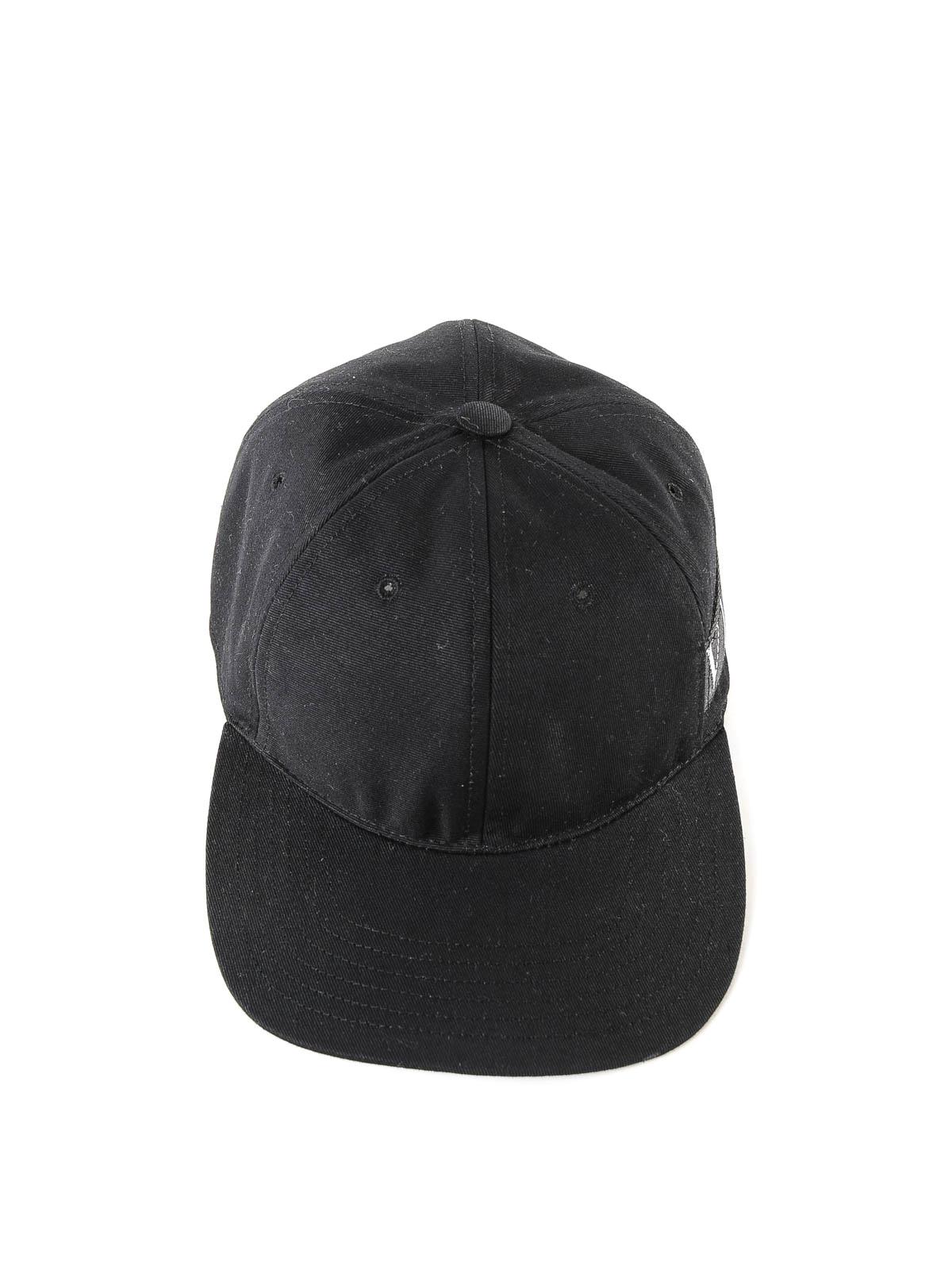 af27a9ddc44 VALENTINO GARAVANI  hats   caps online - VLTN black cotton baseball cap