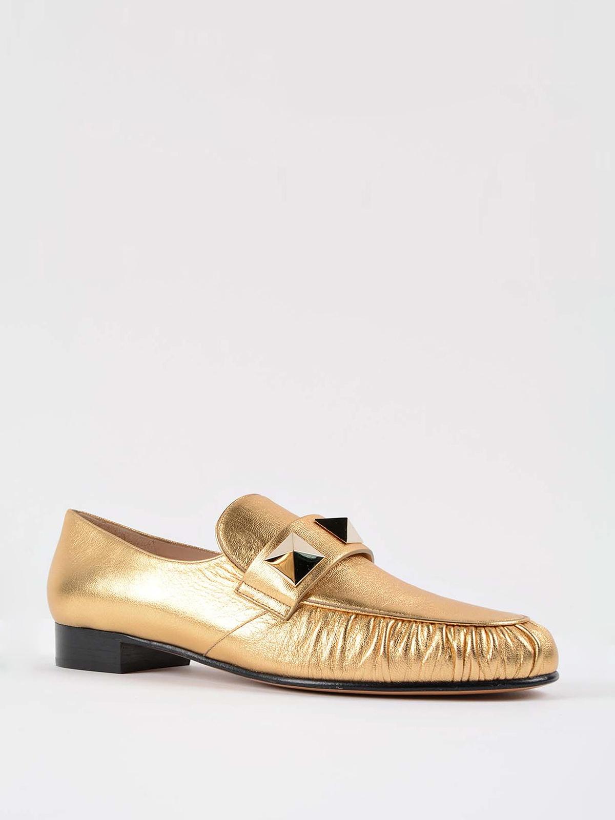 95558484410 VALENTINO GARAVANI  Loafers   Slippers online - Macro studs detail loafers