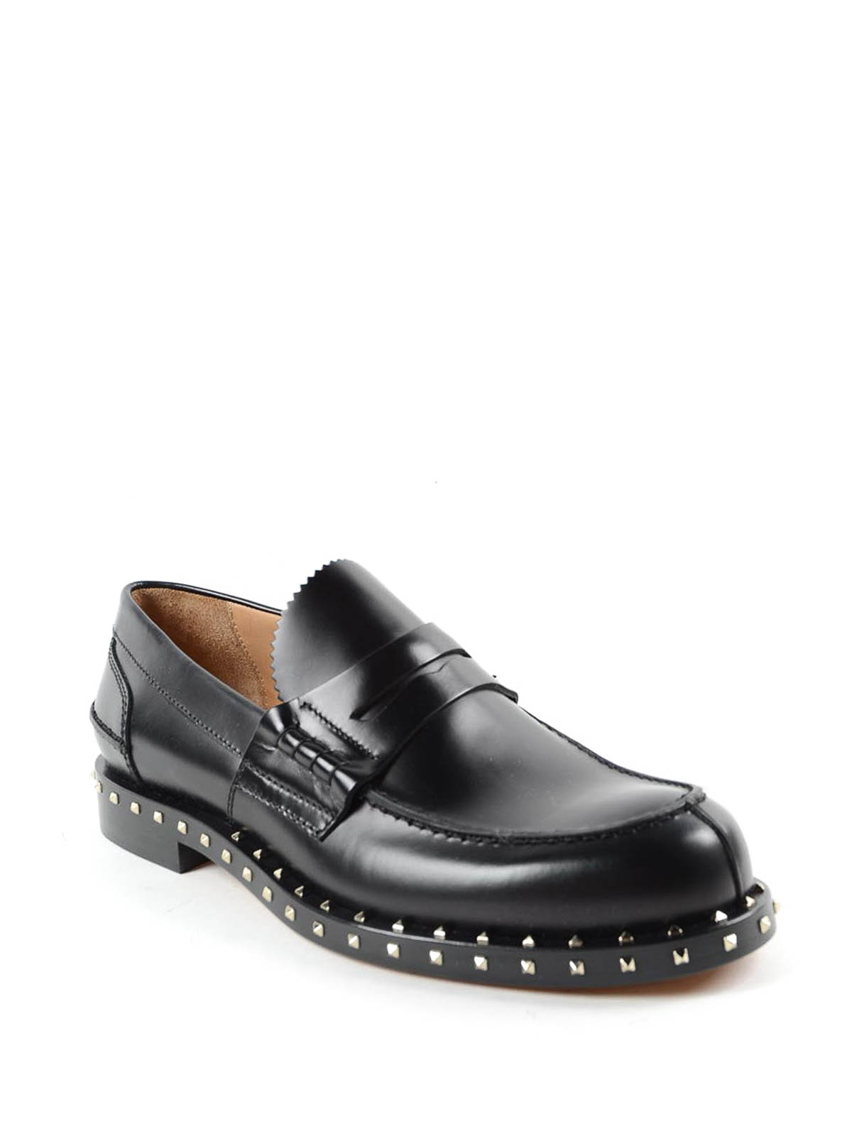 f548714c5b281 VALENTINO GARAVANI: Loafers & Slippers online - Rockstud leather penny  loafers
