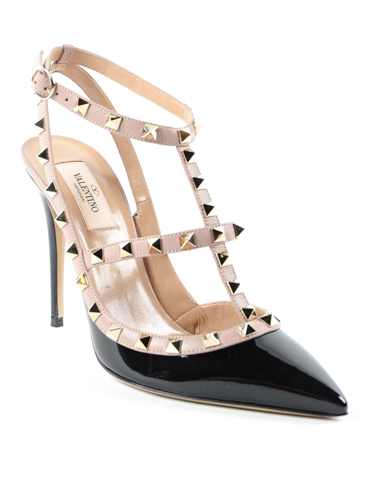 another chance shop buying now Valentino Garavani - Contrasting studded sandals - sandals ...