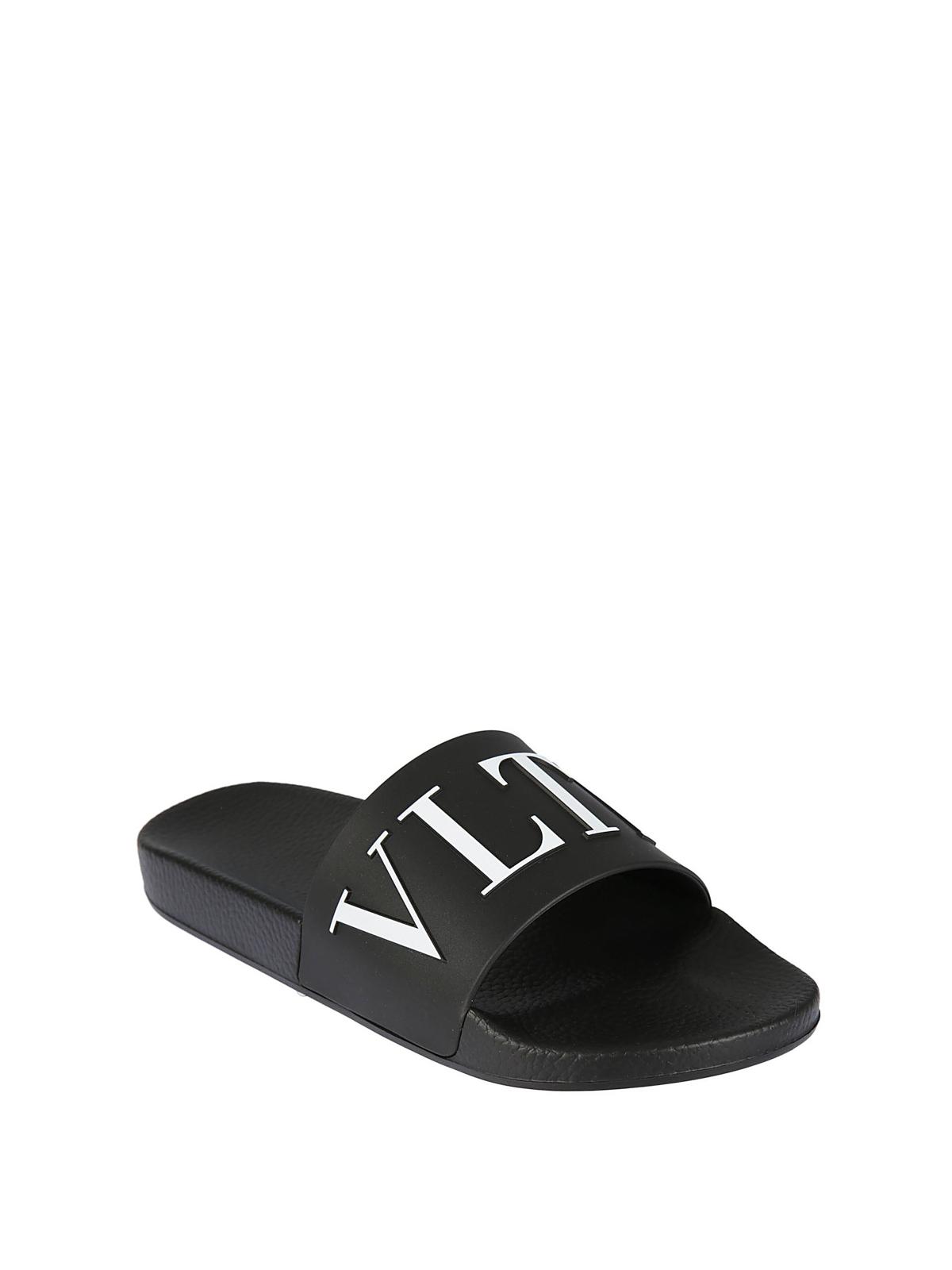 c4e79b9eb8a Valentino Garavani - VLTN black pool sliders - sandals - PY0S0873SYE0NI