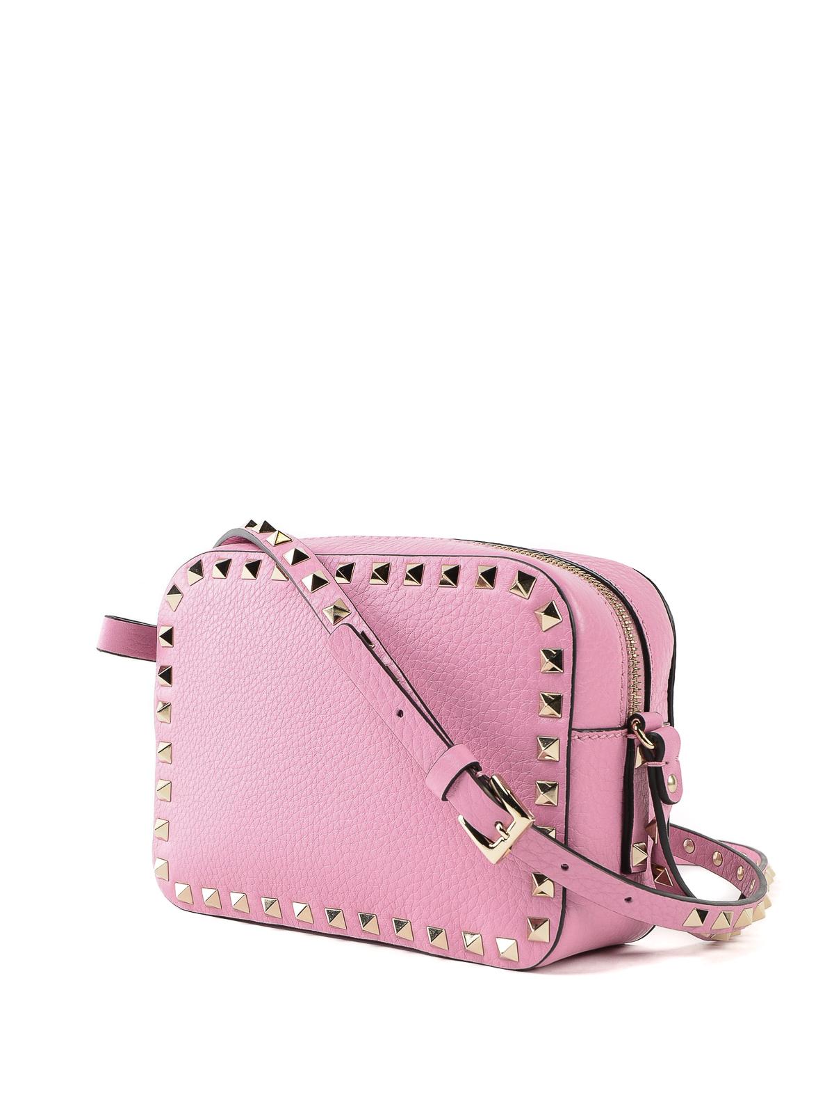 50fe787ad5 VALENTINO GARAVANI: shoulder bags online - Rockstud pink leather camera bag