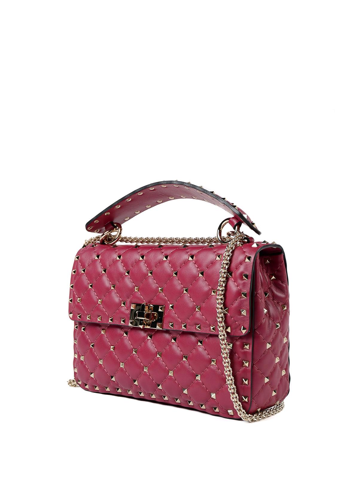 50a6178d98 VALENTINO GARAVANI: borse a spalla online - Borsa Rockstud Spike M in nappa