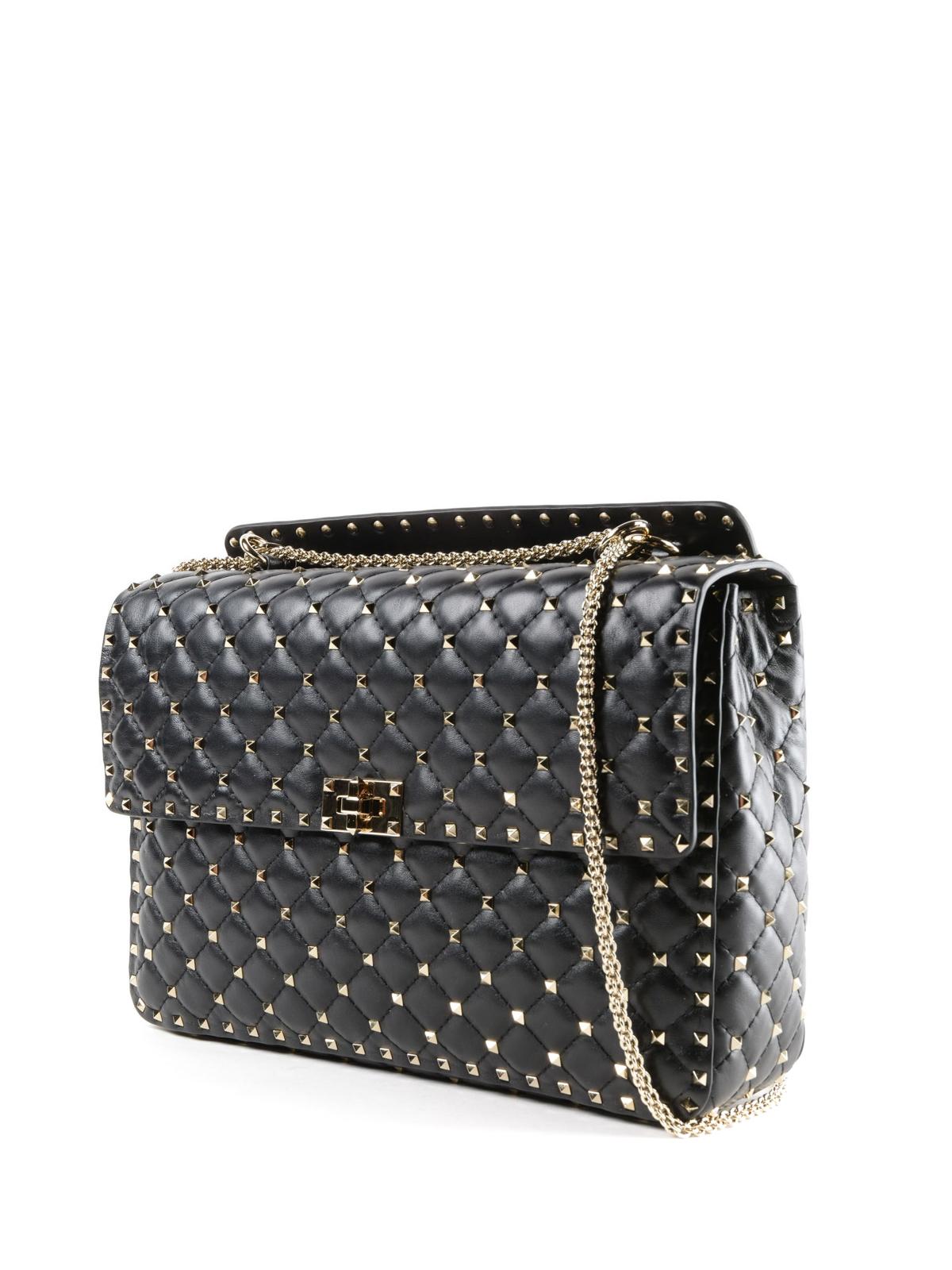 VALENTINO GARAVANI  borse a spalla online - Borsa Rockstud Spike in pelle  matelassé 5180993ff85