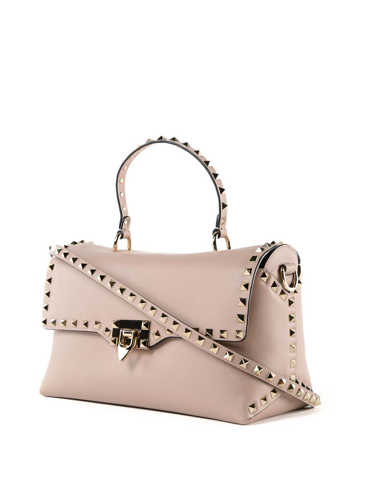 61e7b87d2 VALENTINO GARAVANI: totes bags online - Powder Rockstud leather tote bag