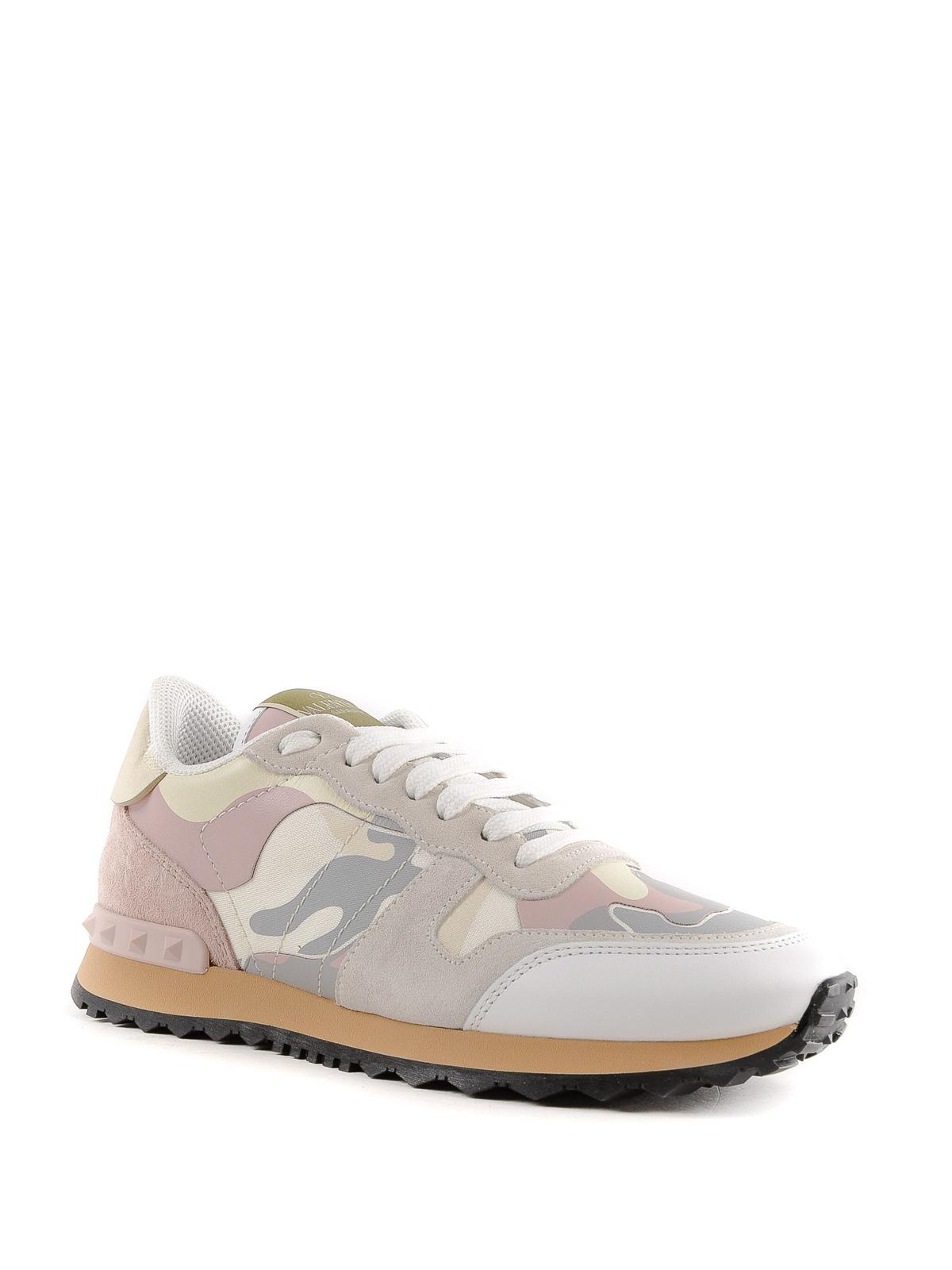 4c34ba7cac49b VALENTINO GARAVANI: trainers online - Pink Rockrunner camouflage sneakers