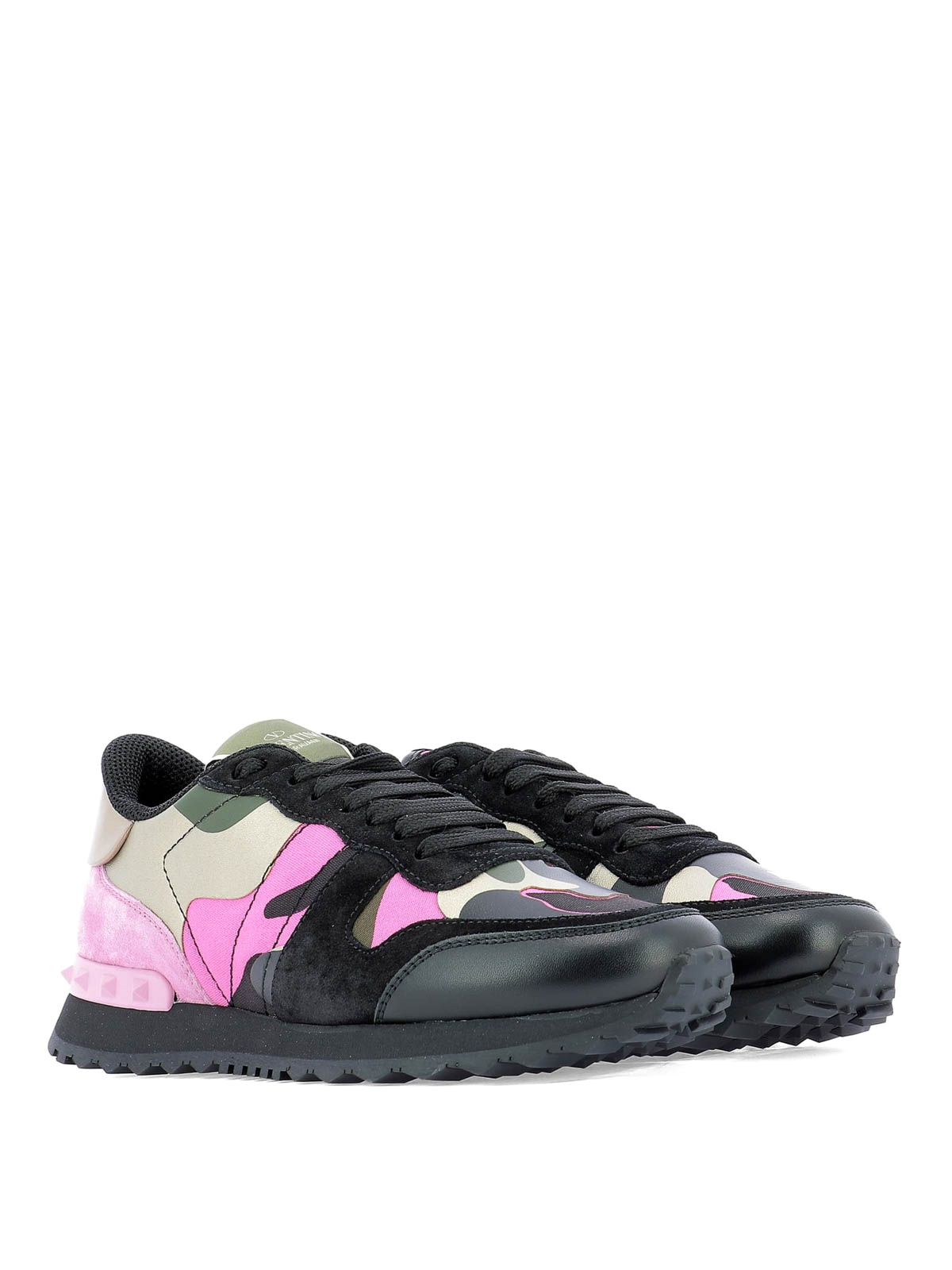 4a817b7be5a15 VALENTINO GARAVANI: trainers online - Rockrunner Camouflage lace-up sneakers