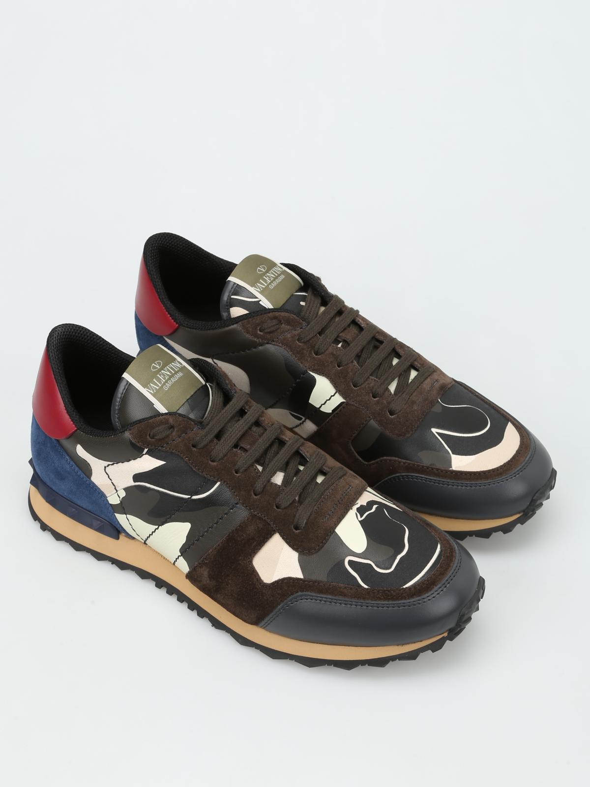 Garavani Chaussures Valentino Camouflage Rockrunner De Baskets Sxn4qwR