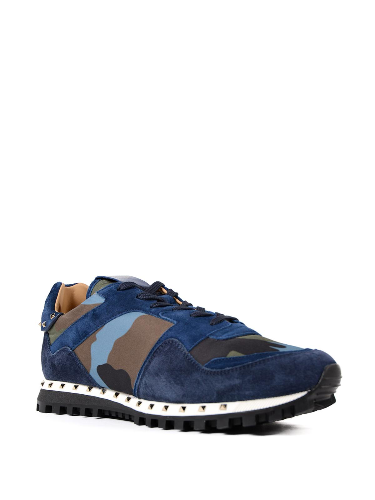 Valentino Garavani - Rockrunner camouflage suede shoes ...