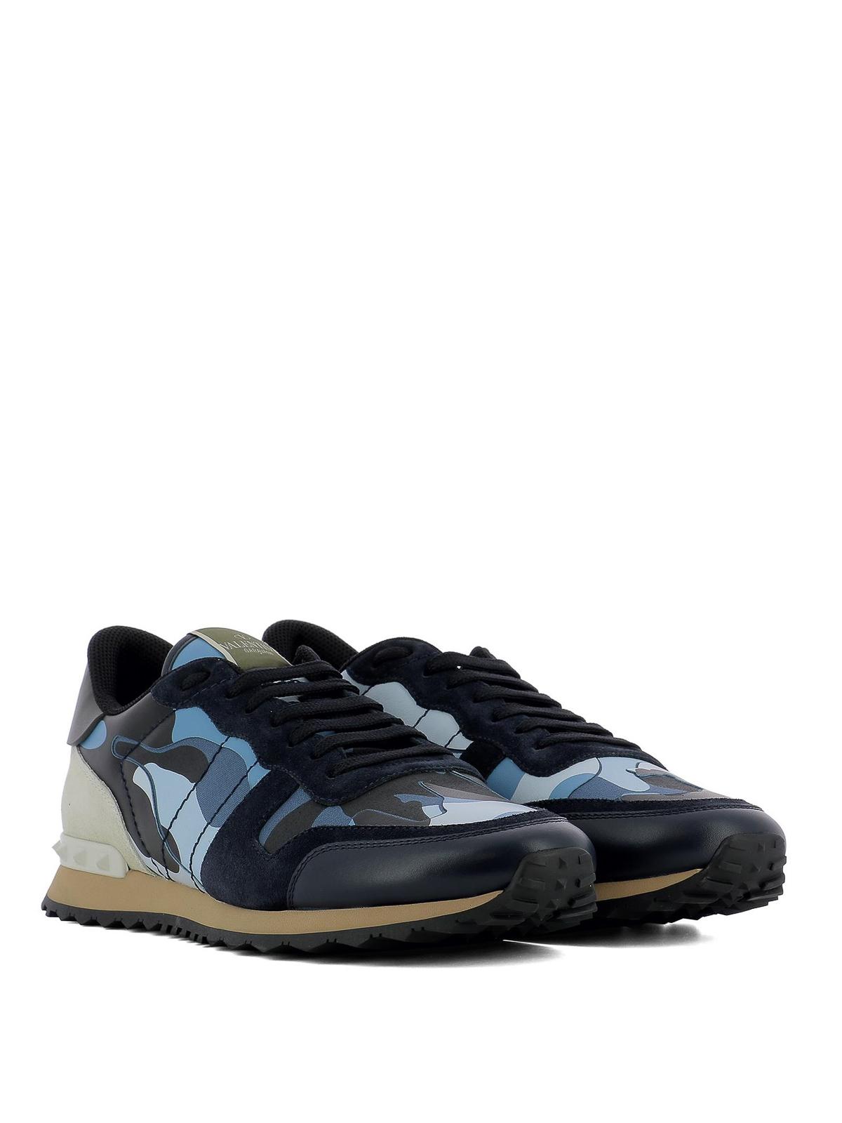 Rockrunner dark blue camo sneakers
