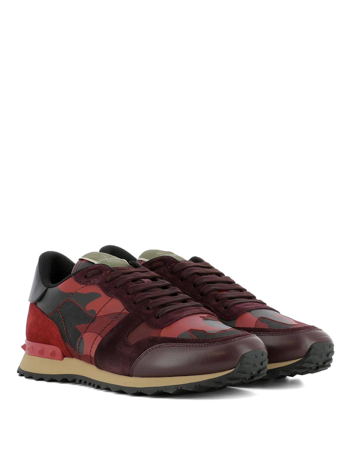 dark red sneakers