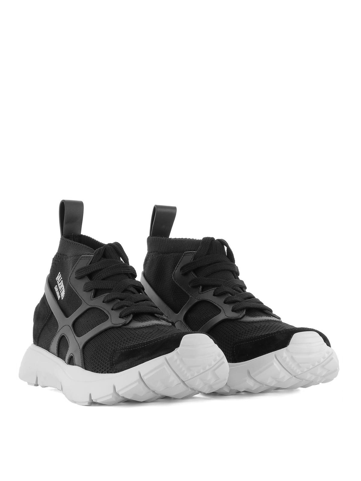 Sound High black sock sneakers