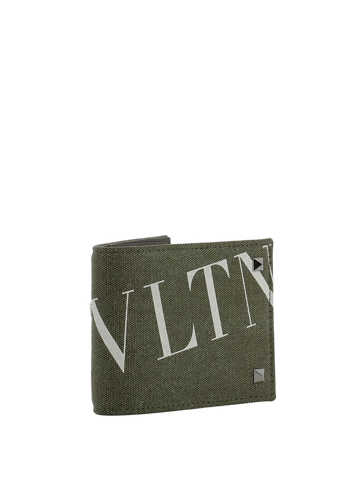 new style 72775 bd0d9 Valentino Garavani - Portafoglio in tessuto VLTN ...