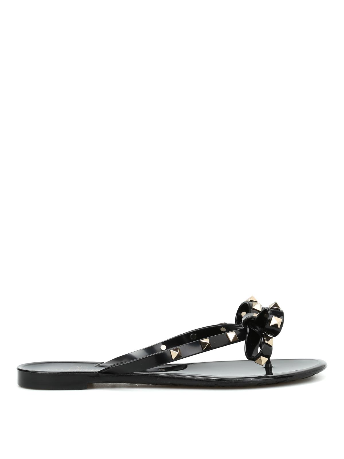 a28f66a81573 Valentino Garavani - Rockstud PVC thong sandals - sandals ...
