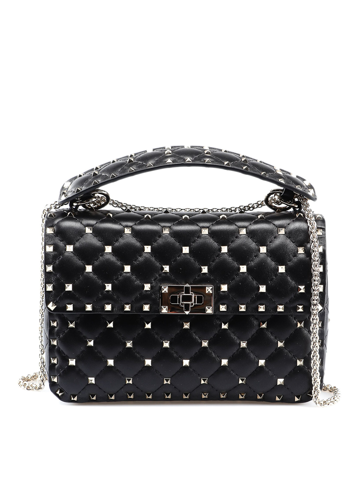 b5508d9f9d Valentino Garavani - Rockstud Spike black medium bag - shoulder bags ...