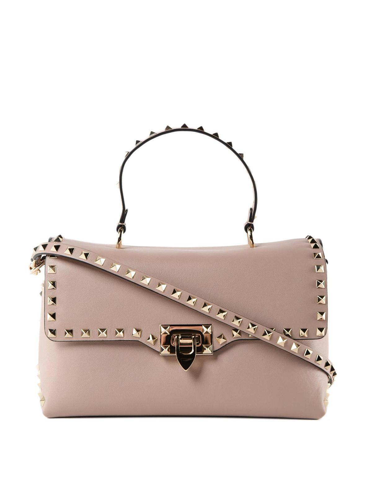 e797f17e1 Valentino Garavani - Powder Rockstud leather tote bag - totes bags ...