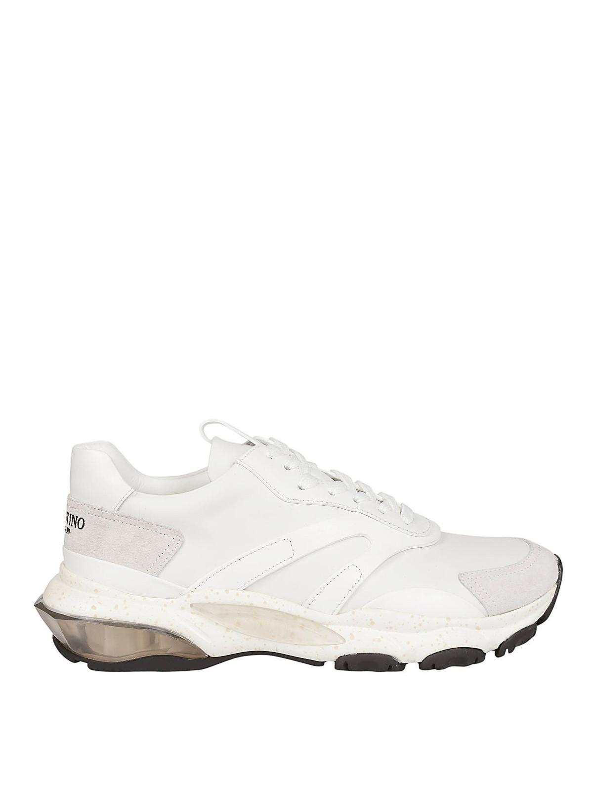 9fae219a832ae Valentino Garavani - Bounce leather sneakers - trainers - QY2S0B05VRN0BO