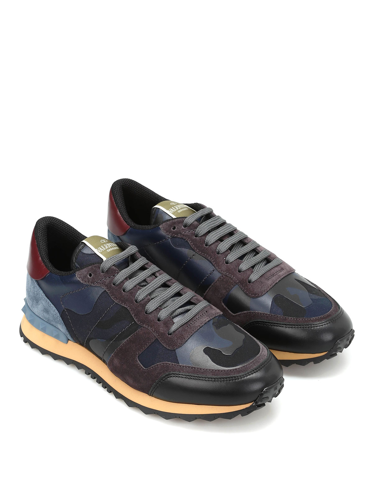 camu multifabric sneakers by valentino garavani trainers ikrix. Black Bedroom Furniture Sets. Home Design Ideas