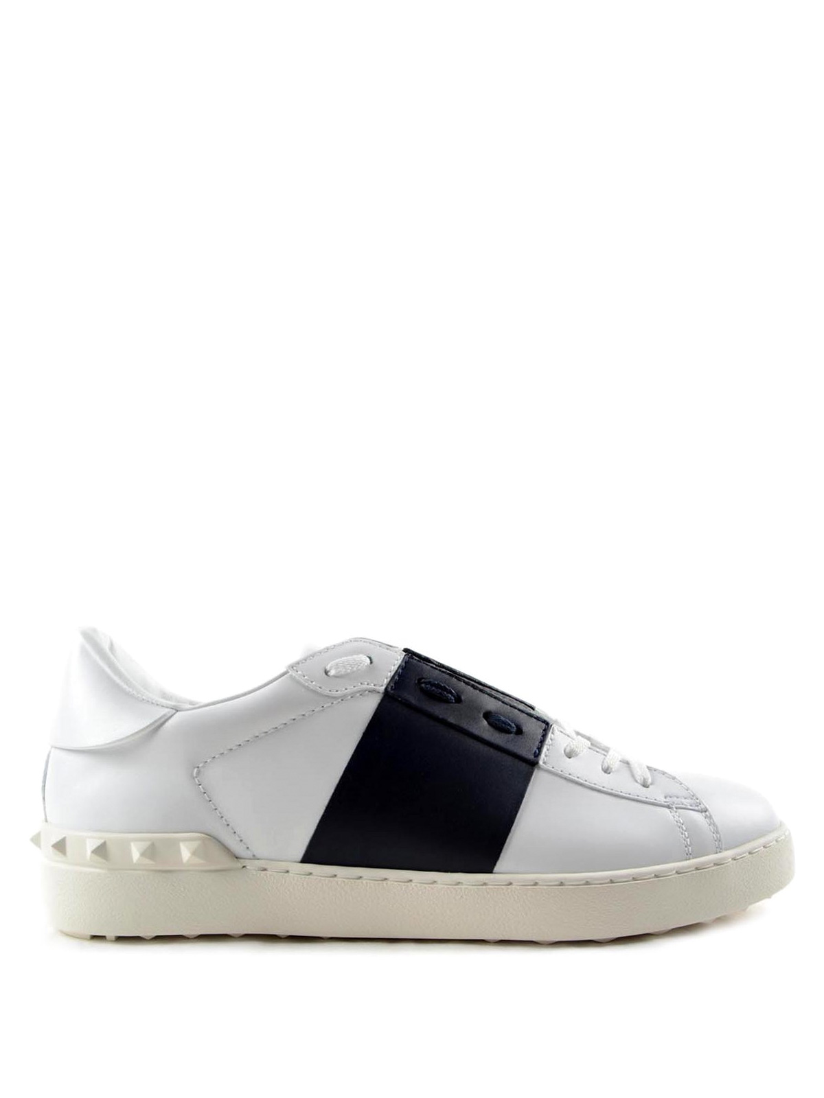 open leather sneakers by valentino garavani trainers ikrix. Black Bedroom Furniture Sets. Home Design Ideas