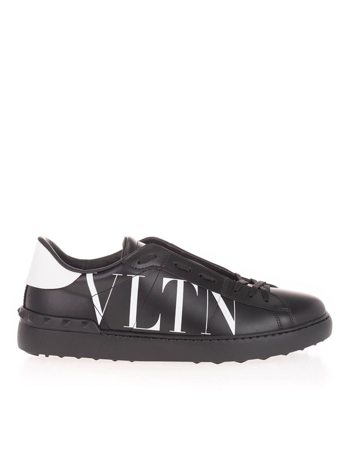 Valentino Leathers OPEN SNEAKERS IN BLACK