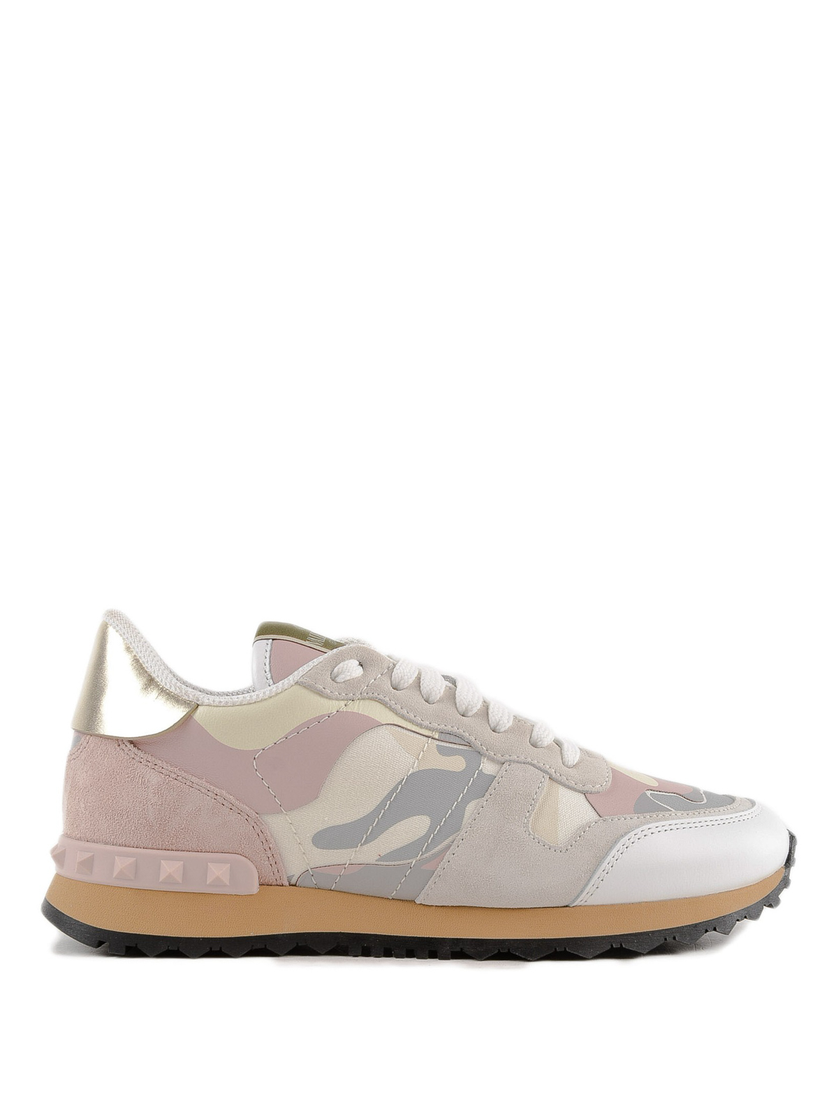 a1faa2a3fa9c9 Valentino Garavani - Pink Rockrunner camouflage sneakers - trainers ...