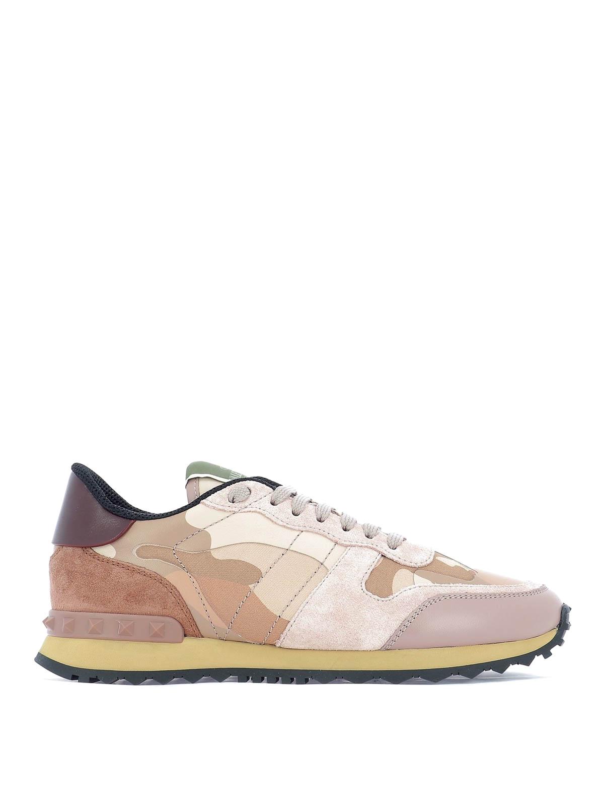 8df17961f88d2 VALENTINO GARAVANI: trainers - Rockrunner Camouflage low top sneakers