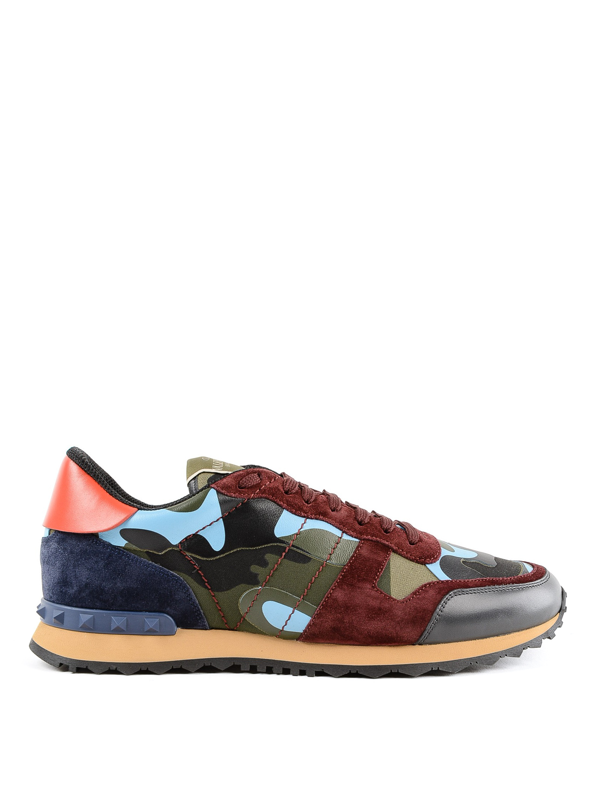 bd078bdfb6403 VALENTINO GARAVANI: trainers - Rockrunner Camouflage two-tone suede sneakers