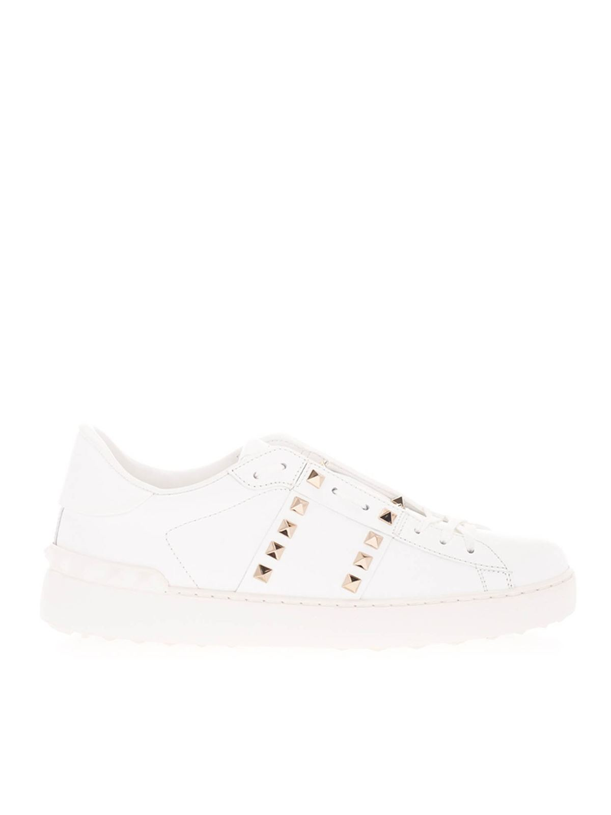 VALENTINO ROCKSTUD UNTITLED SNEAKERS IN WHITE
