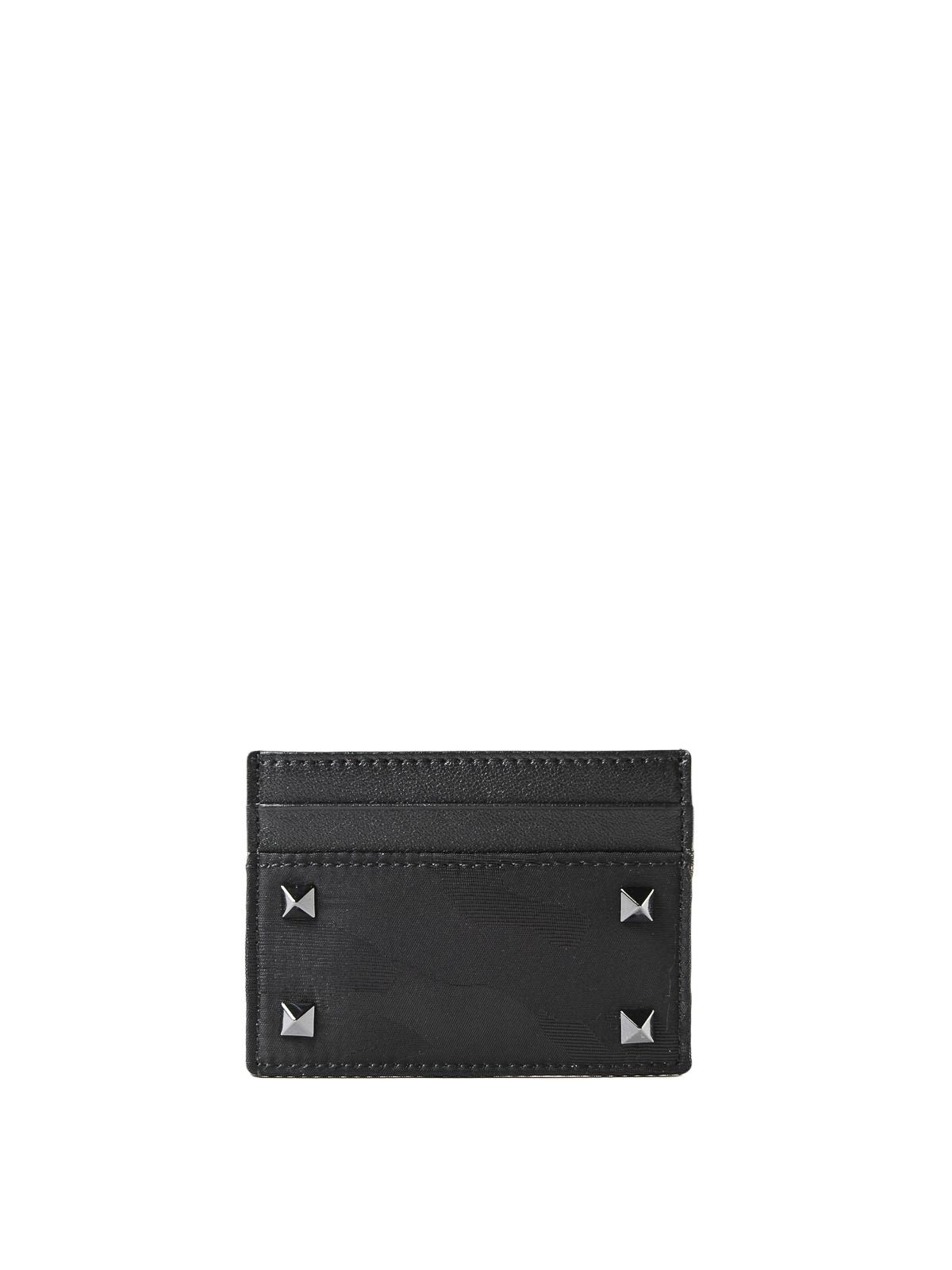 b6b1f9af3932e VALENTINO GARAVANI: wallets & purses - Tech camouflage and leather card  holder