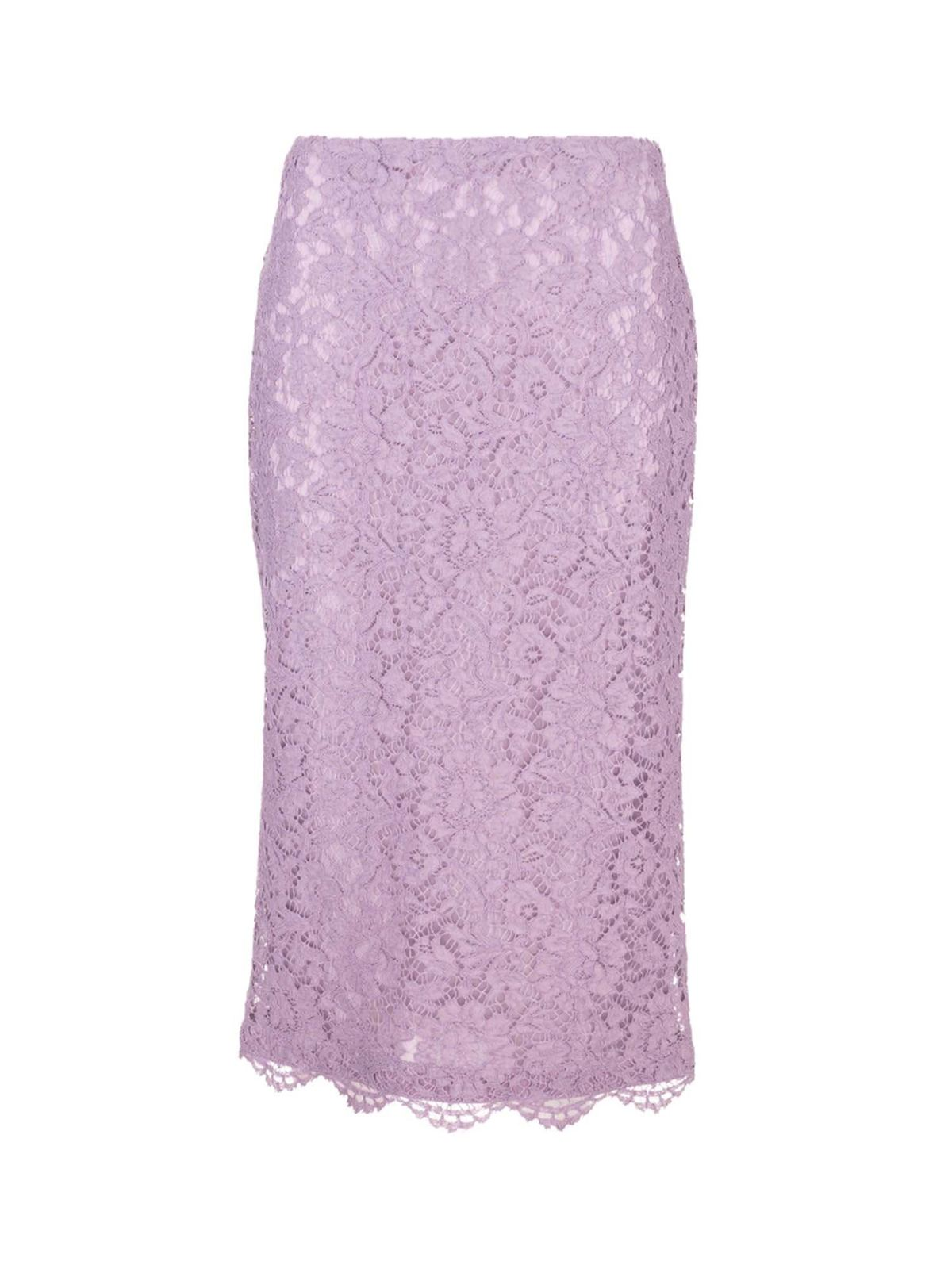 Valentino LACE SKIRT IN LILAC COLOR