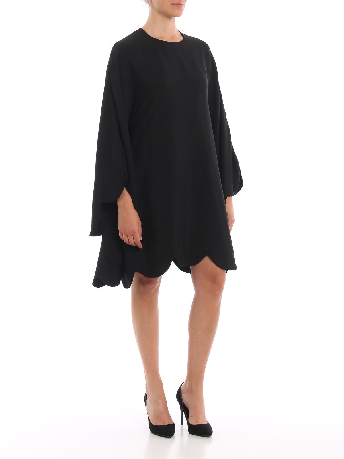 Vestido De Cóctel Vestidos Valentino Negro Nwvn08m
