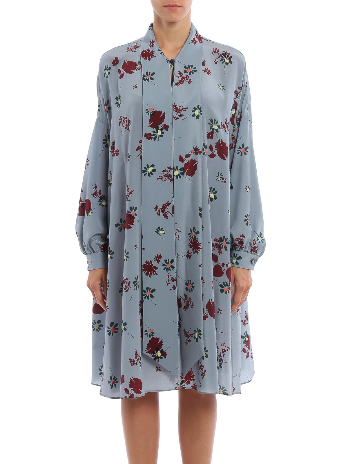 Valentino Tail Dresses Online Fl Print Silk Dress