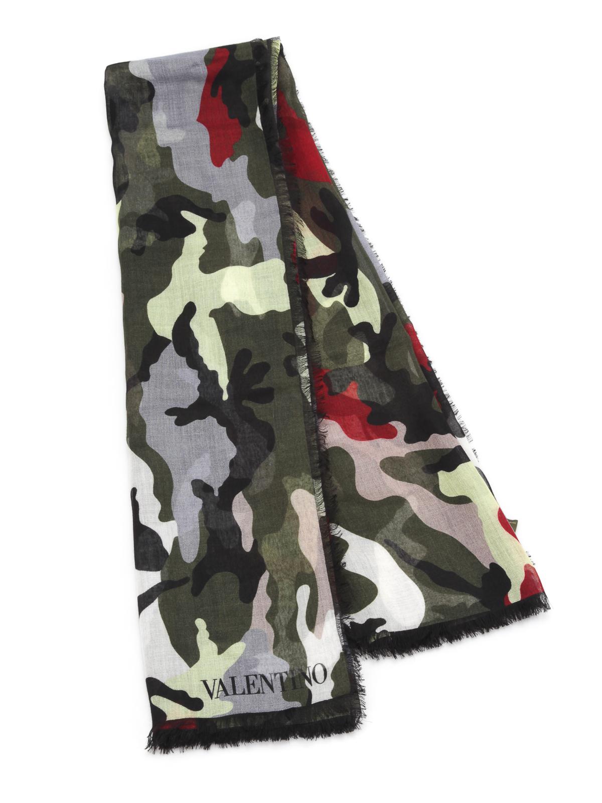 63657fe3dc7 Valentino - Camouflage scarf - scarves - JU0EB002WCC 825 | iKRIX.com