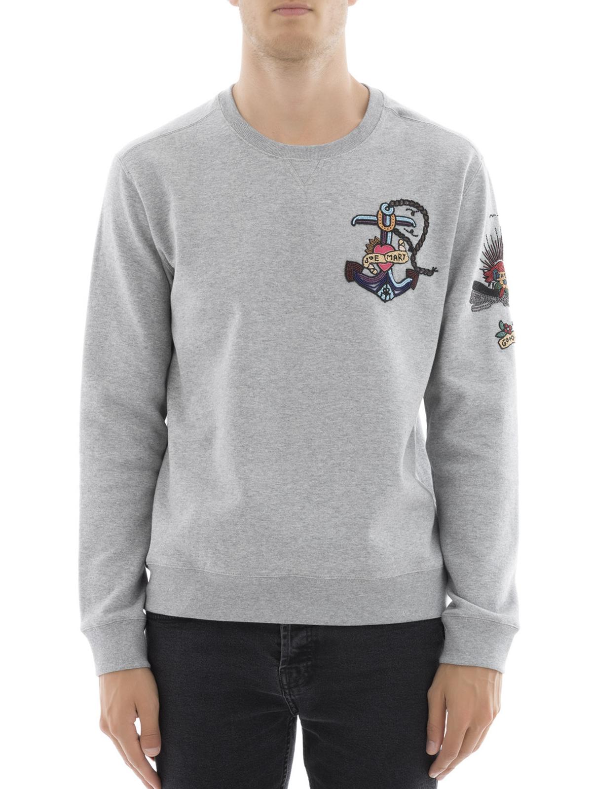 Gris amp; Sweat Shirts Pulls Valentino Sweatshirts Online Tz4qn55xgY