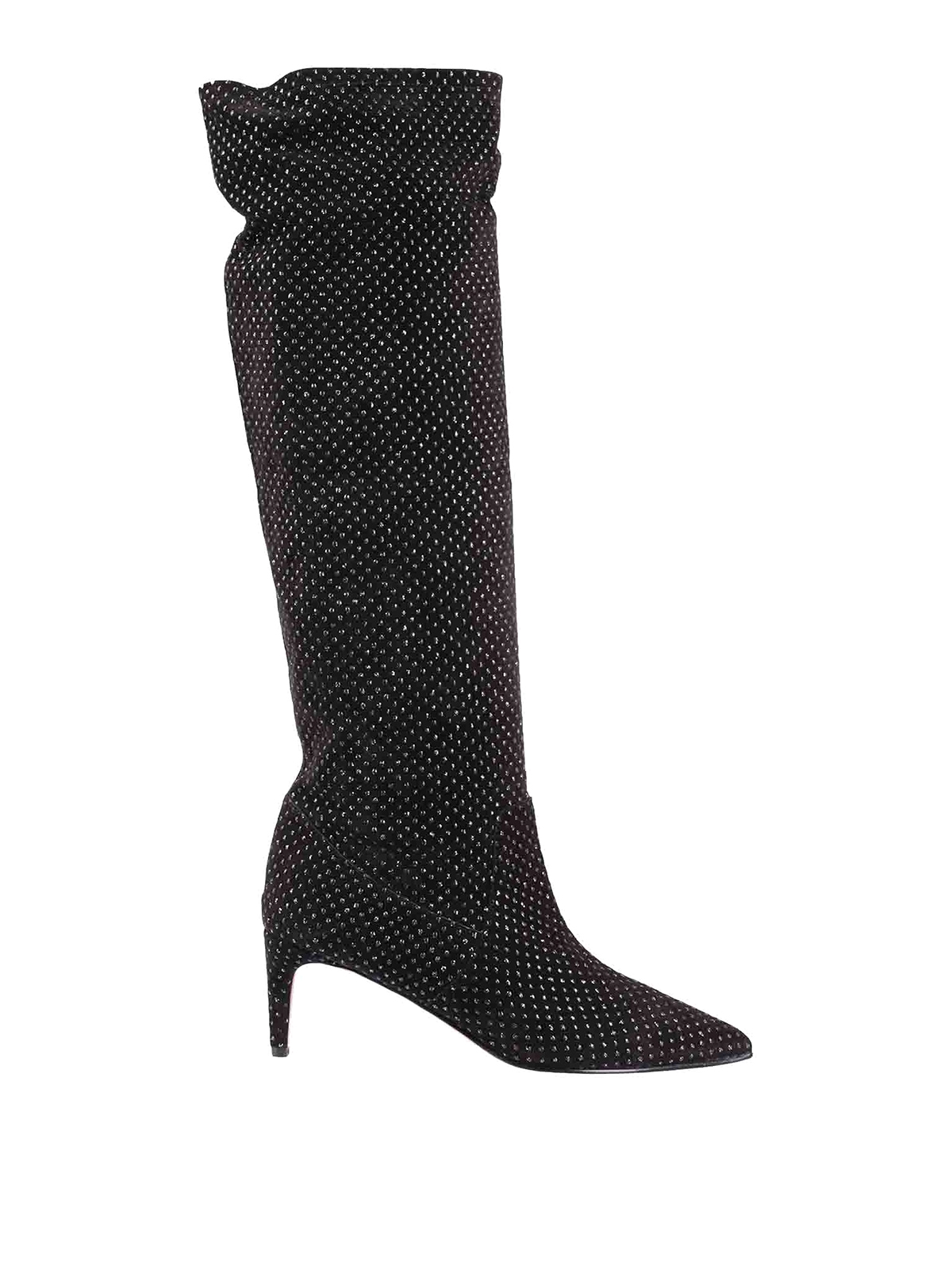 Red Valentino EMBELLISHED SUEDE BOOTS