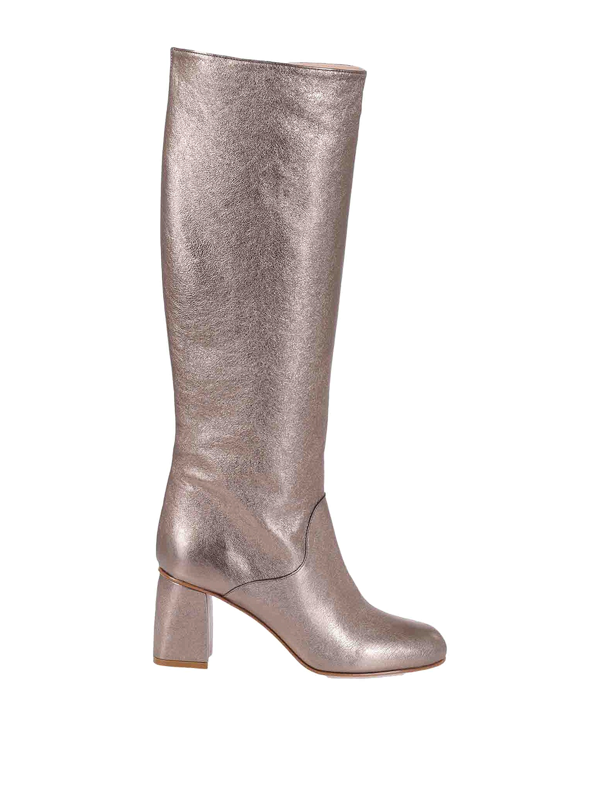 Red Valentino LAMINATED LEATHER BOOTS