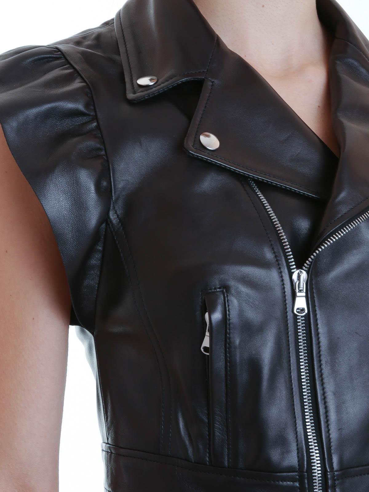 Red Chaqueta De Cuero Mujer Negras Chaquetas Valentino Para RUZqW4qw
