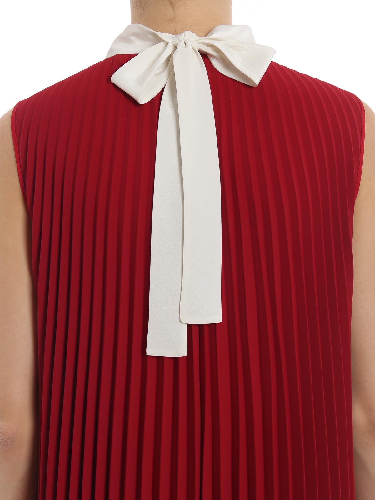 huge selection of f68b6 41067 Valentino Red - Abito smanicato in tessuto tecnico stretch ...