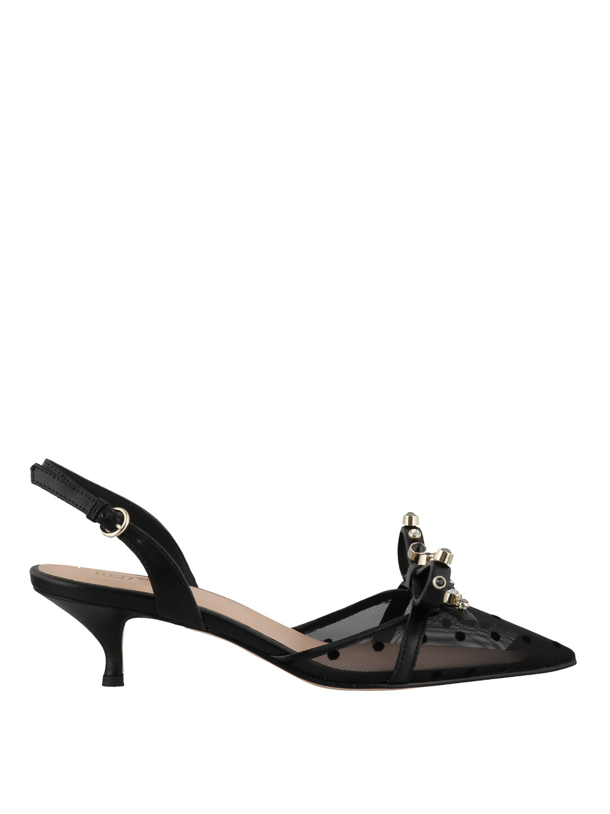 b583456f26a73 Valentino Red - Black polka dot slingbacks - court shoes ...